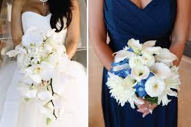wedding flowers blue and white angella s comfortable casrin bridal blue white scoop neckline