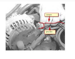 changed alternator in 99 chev cavalier plug at back of alternator