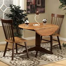 Kitchen Table Rugs Remarkable Round Chocolate Cream Oak Wood Drop Leaf Kitchen Table