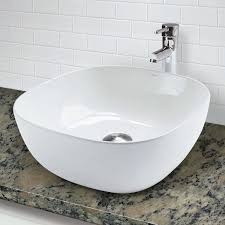 decolav 1488 cwh square above counter vitreous china bathroom sink