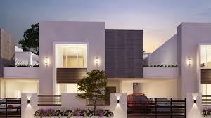 Modern Row House by M S Abbro Keerthana