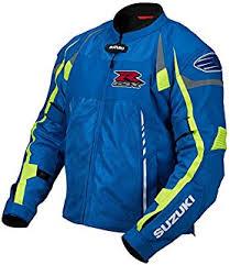 gsxr riding jacket amazon com suzuki gsx r gsxr mesh riding jacket white blue large