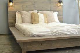 Country Wood Bed Frame Bed Platform Bed Frame Queen Country