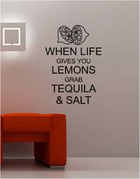 salt life decal when life gives you lemons wall art sticker vinyl quote kitchen