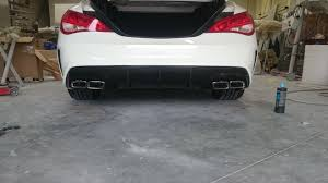 nissan altima exhaust tips cla45 style exhaust tip and diffuser for cla250 attachments