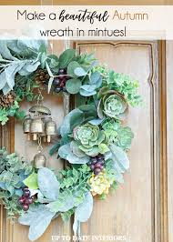 autumn wreath diy autumn wreath up to date interiors