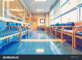 empty blue interior waiting room medical stock photo 650538631