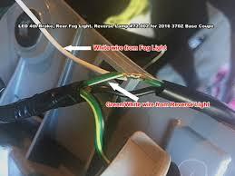 how to install nissan 370z led rear fog lights reverse lights