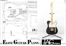 full size plan to build a telecaster electric guitar etsy