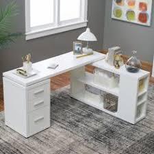 White Desk At Walmart Coaster Yvette Collection White L Shaped Reversible Desk Walmart