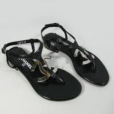 designer shoe outlet wholesale chanel cc logo flat sandals black c2286 wholesale