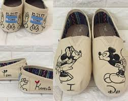 Wedding Shoes Toms Rose Gold Mickey U0026 Minnie Sketch Toms Disney Wedding Shoes