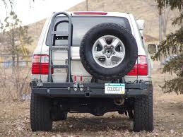 land cruiser pickup accessories slee toyota 100 series land cruiser rear bumper