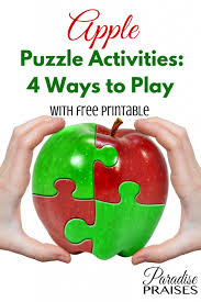 apple puzzle activities 4 ways to play free printable