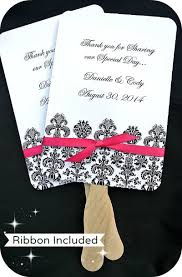 personalized wedding fans buy personalized wedding favor fans damask coupon code is