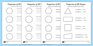 shape pattern year 2 year 2 properties of 2d shapes worksheet activity sheet pack
