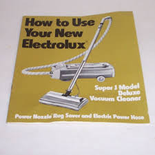 electrolux canister vacuum cleaner owners manual super j model