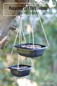 recycled diy bird feeder liz on call