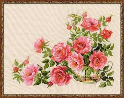 riolis premium cross stitch kit sweet flavor roses