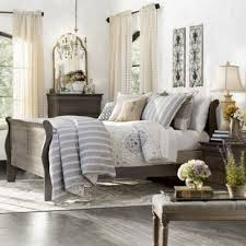 Grey Sleigh Bed Grey Sleigh Beds You Ll Wayfair