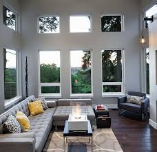 interiors with gray and inviting sofas home interior design