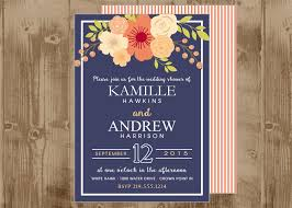 navy and coral wedding invitations navy and coral wedding