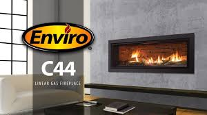 c44 linear gas fireplace burn example youtube