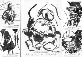 sketch cards the return of the jedi damn you i u0027m a crazy monkey