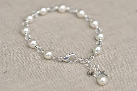 silver pearls bracelet images First communion bracelet swarovski crystals and pearls jpg