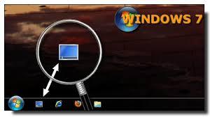afficher les icones du bureau windows 7 ajouter le raccourci afficher le bureau dans la barre de