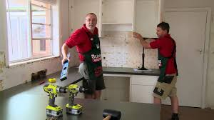 How To Fit Kitchen Cabinets How To Install Kitchen Wall Cabinets Diy At Bunnings Youtube