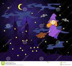 pretty flying witch stock photo image 3422400