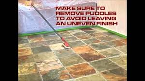Best Sealer For Flagstone Patio by Modern Stone Shine Seal Sealer And Color Enhancement Youtube