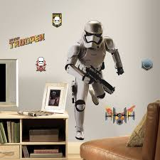 roommates star wars episode vii storm trooper peel and stick giant roommates star wars episode vii storm trooper peel and stick giant wall decal walmart