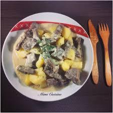 cuisiner pommes bœuf et pommes de terre à la crème recette cookeo