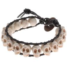 bracelet skull beads images Make halloween jewelry with skull beads fashionornaments jpg