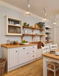 English Cottage Kitchen Designs English Cottage Kitchen Rustic Painted White With A Copper Sink