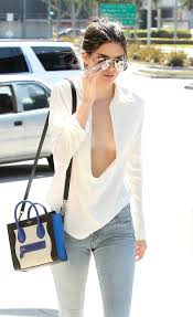 blouse nip slip kendall jenner nearly suffers wardrobe malfunction style