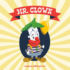 wedding invitation clown birthday greeting card vector show clowns mr clown vector free