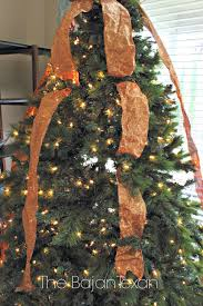mesh ribbon christmas tree part 43 rustic christmas tree