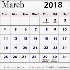 march 2018 calendar with holidays usa yearly printable calendar