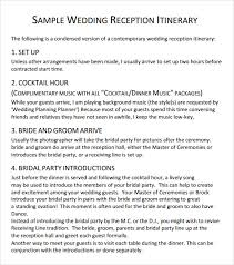 wedding reception itinerary 28 images of wedding reception agenda template bosnablog