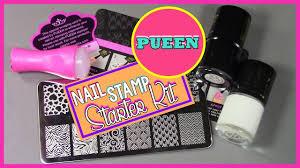 pueen nail stamp starter kit youtube