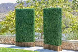 special event rentals in san diego include artificial hedge panels