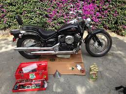 oil and filter change yamaha v star 650 cruiser riders recycle
