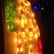light up window decorations from our home collection christmas decoration time light up santa