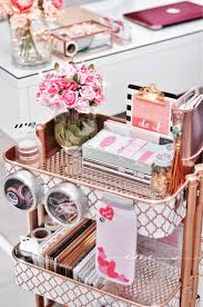 ikea hack rose gold utility cart raskog diy spray painted