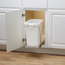 In Cabinet Trash Cans For The Kitchen Under Cabinet Trash Can Kitchenrev A Shelf Plastic Pull Out Trash