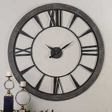 wall clocks canada home decor wall clocks canada home decor elegant uttermost ronan wall clock