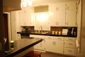 Closed Kitchen Kitchen Cabinet Handles Which Is Coated With Melamine With A Clear